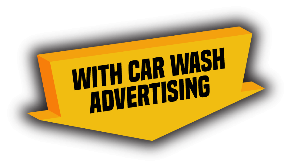 with car wash advertising